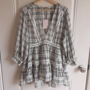 NWT Free People Time Out Lace Tunic Size Medium